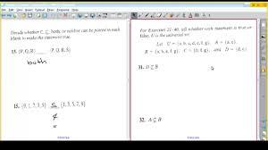 Aaa 2 Venn Diagram Mth 151 Class 6 Chapter 2 Section 2 Venn Diagrams And
