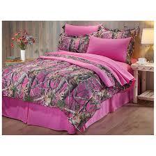 camo twin bedding pink