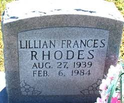 Lillian Frances Shaver Rhodes (1939-1984) - Find A Grave Memorial