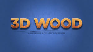 photoshop effects free free 3d wood text effect for photoshop psd motosha
