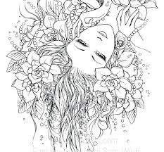 Difficult Coloring Pages For Adults Mermaid Blog Free Fairy Color