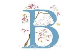 Story Letter Print B Birds And The Bees