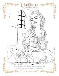 New Disneys Cinderella Coloring Pages And Activity Sheets Art