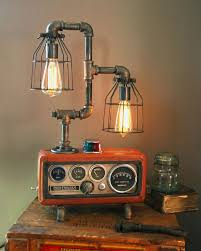 steampunk lighting. unique lighting 18 gorgeous steampunk machine age lamps maybe i could make something like  this out of things throughout lighting d