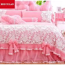white ruffle duvet cover white pink princess bedding set lace ruffles duvet cover bedspread bed skirt