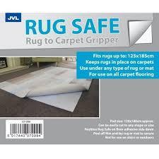 jvl rug safe carpet gripper 120 x 180cm cut shape secure anti slip mat