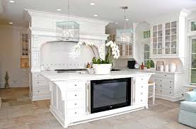 Interesting Kitchen Tile Flooring White Cabinets Decor Pad A Intended Perfect Design