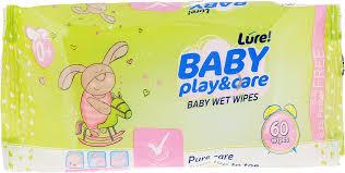 <b>Lure Влажные салфетки</b> для детей, 60 шт — купить в интернет ...