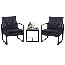 modern outdoor patio furniture. Flamaker 3 Pieces Patio Furniture Set Bistro Table Modern Outdoor  Sets Clearance Cushioned PE Modern Outdoor Patio Furniture -