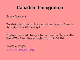immigrants and minorites ppt video online canadian immigration essay questions