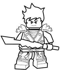 Kai Ninjago Coloring Pages Coloringstar