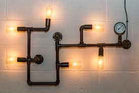 industrial look lighting. PIPEWORK WALL LIGHT LARGE INDUSTRIAL STYLE FITTING Industrial Look Lighting T