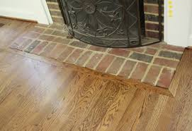 installing laminate flooring on concrete around a fireplace hearth