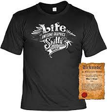 Lustige Sprüche Männer Partyshirt Life T Shirt Gratis Spassvogel