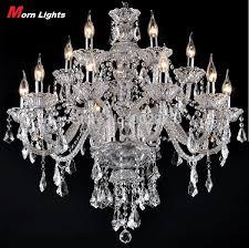 15 heads large chandelier lighting top k9 crystal chandeliers bedroom lamp dining room crystal lamp crystal