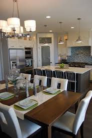 Kitchen And Dining Room Layout Kitchen Lighting White Cabinets With Dark Grey Island Kitchen