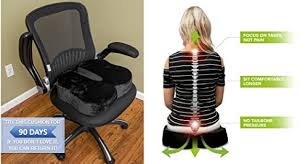 cooling office chair. Sleekform Orthopedic Coccyx Seat Cushion For Office Chair \u2013 15% Cooling Soft Gel \u0026 85% Memory Foam Back Pain Anti-Slip