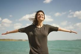Image result for girl breathing in air