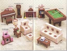 free barbie furniture patterns. fashion doll family room plastic canvas pattern for barbie annie attic free furniture patterns b