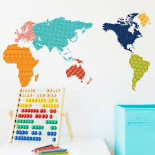 colorful world <b>map wall stickers</b> bedroom tv background wall murals ...