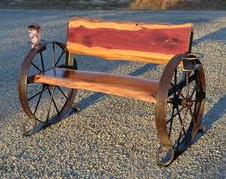 Cedar Wagon Wheel Bench