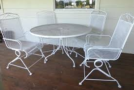 White Wrought Iron Patio Furniture Home Design Within 14 Jilliemaecom
