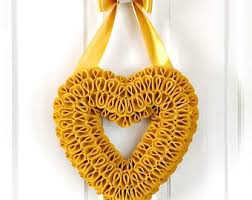 mustard yellow home accents. Brilliant Yellow Heart Wreath Mustard Yellow Home Decor  Wall Art Mustard Minimalistic Hygge H On Accents I