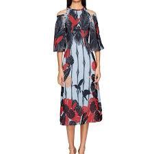 Womens Hummingbird Cold Shoulder Dress 2
