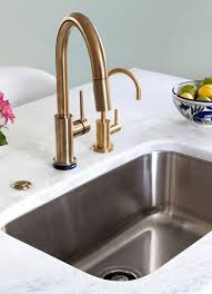 delta trinsic faucet in champagne bronze kitchen by design manifest