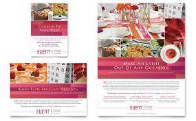Event Coordinator Templates Corporate Event Planner Caterer Flyer Ad Template Design