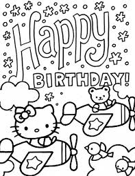 Small Picture Hello Kitty And Bear Driving Plane Birthday Coloring Page H M