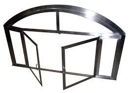 fireplace screen 8 custom brushed stainless steel fireplace screen with glass panels and