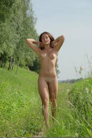 Shaved Brunette Penelope B with Swollen Breasts from Domai Image.