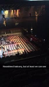 View From Our Balcony Floor Seats And Stage Off To The