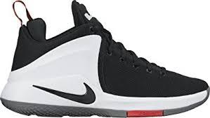 lebron nike basketball shoes. nike mens lebron zoom witness basketball shoes black/white/university red 852439-003