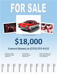 Microsoft Used Cars Sales Flyer