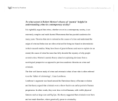 to what extent is robert merton s theory of anomie helpful in document image preview