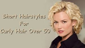 Short Hairstyles For Curly Hair Over 50 Youtube