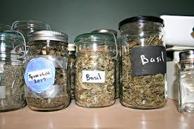 make storage jars for your herbs