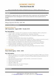 Practical Nurse Resume Samples Qwikresume