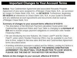 Maybe you would like to learn more about one of these? Chase Credit Card Account Terms Changes Effective August 2019 Explained Intelligent Offers