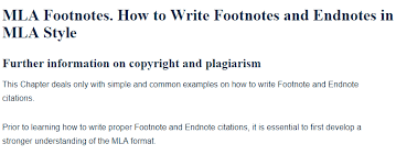 how to write mla citation how to write footnotes and endnotes in mla style a research guide