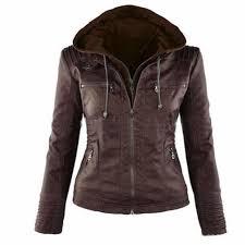 hoo leather jacket hooded leather jacket women leather jacket