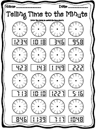 Telling Time To The Minute Worksheet Worksheets for all | Download ...