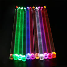 Light Up Drum Us 5 69 28 Off Cool 5a Acrylic Drum Stick Bright Led Light Up Drumsticks Luminous In The Dark Stage Jazz Drumsticks Special Performance Effect In