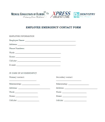 In Case Of Emergency Form For Employees In Case Of Emergency Form Template Uk Free Printable Ice Forms Fill