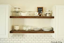 Shelves In Kitchen Rustic Open Shelves In Between Cupboards Creatively Living