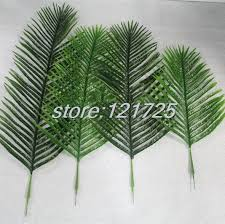 DIY Artificial Palm Tree Plant Leaf Branches Fake Foliage Green Wedding Home Decor outdoor