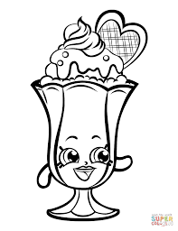 Suzie Sundae Shopkin coloring page | Free Printable Coloring Pages
