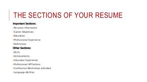 effective resume cv writing